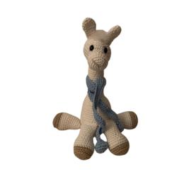 Alpaca gehaakt met sjaal bleu