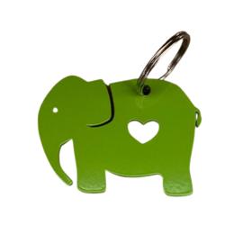 Sleutelhanger olifant groen van TinTown