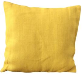 Kussen jute geel