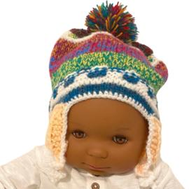 Baby mutsje traditioneel multicolor