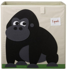 3 Sprouts opbergbox (past in IKEA Kallax kast) gorilla