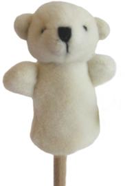 Pluche vingerpoppetje ijsbeer