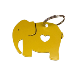 Sleutelhanger olifant geel van TinTown