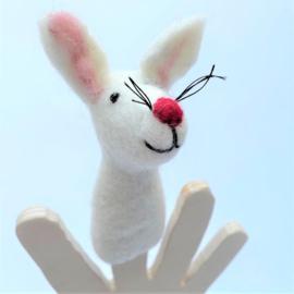 Vilten vingerpoppetje haas 3D