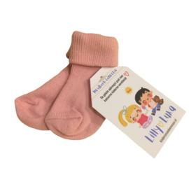 Roze babysokjes