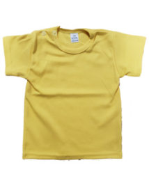 Basic t-shirt geel