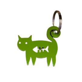 Sleutelhanger poes groen van TinTown