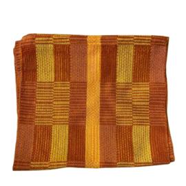 Handgeweven colsjaal oranje-geel