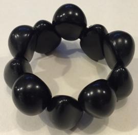 Tagua armband zwart