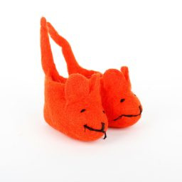 Babyslofjes muis oranje