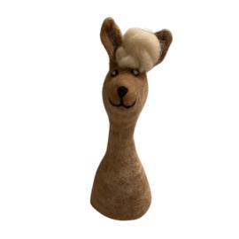 Mini handpop alpaca beige