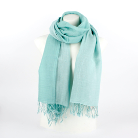Dubbele katoenen sjaal mint