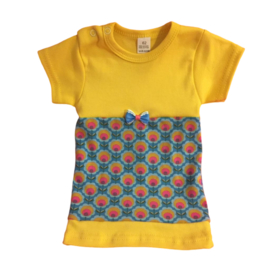 Babyjurkje bloem oranje met geel