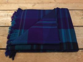 Katoenen picknick-/tafelkleed blauw-paars