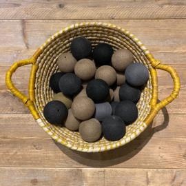 Cotton Ball lichtslinger 35 ballen beige-grijs-zwart 53