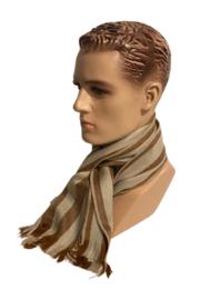 Alpacawollen sjaal beige-cognac