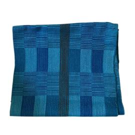 Handgeweven colsjaal blauw