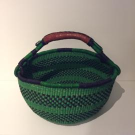 Bolgatanga mand groen-zwart