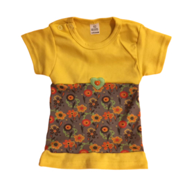 Babyjurkje bloemen geel-oranje