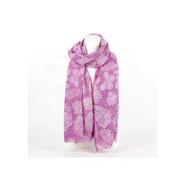 Sjaal butterfly lila