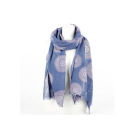 Sjaal circle jeansblauw-lila