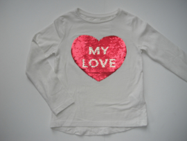 Longsleeve MY LOVE wit mt 92 tm 122/128