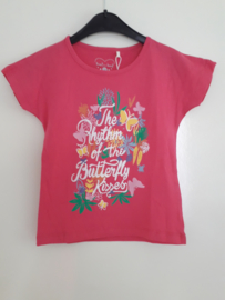 T-shirt BUTTERFLY roze mt 92 tm 122/128