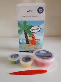 Polly de papegaai - Silk Clay DIY set