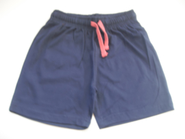 Short blauw mt 92 tm 122/128