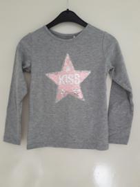 Longsleeve KISS grijs (mt 92 tm 122/128)