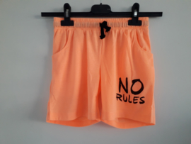 Short NO RULES neon-oranje mt 128 tm 164