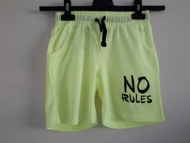 Short NO RULES neon-geel mt 128 tm 164