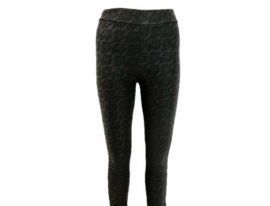 Leatherlook legging met kant print (mt 4 tm 14)