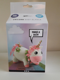 Unicorn roze - silk/foam clay DIY set
