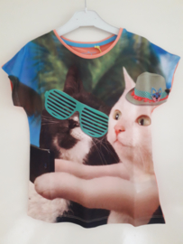 Shirt CATS roze/oranje mt 176