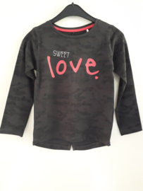 Longsleeve SWEET LOVE zwart (mt 92 tm 122/128)