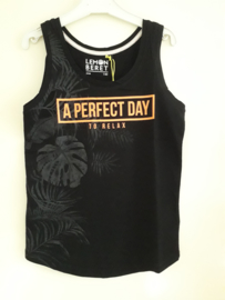 Singlet A PERFECT DAY zwart mt 140 tm 176