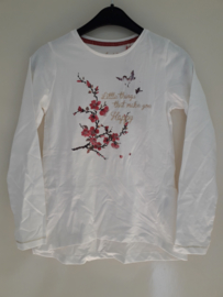 Longsleeve LITTLE THINGS... wit (mt 92 tm 122/128)