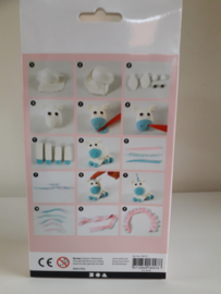 Unicorn blauw - silk/foam clay DIY set