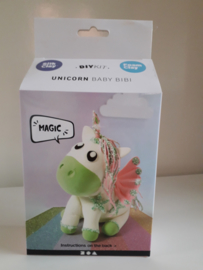 Unicorn groen - silk/foam clay DIY set