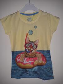 Shirt POESJE geel mt 92/98 tm 128/134