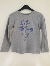 Longsleeve LITTLE THINGS grijs mt 92 tm 122