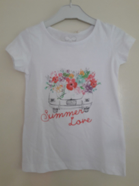 T-shirt SUMMERLOVE wit mt 92 tm 122/128