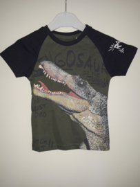 Shirt DINO groen mt 92 tm 122/128