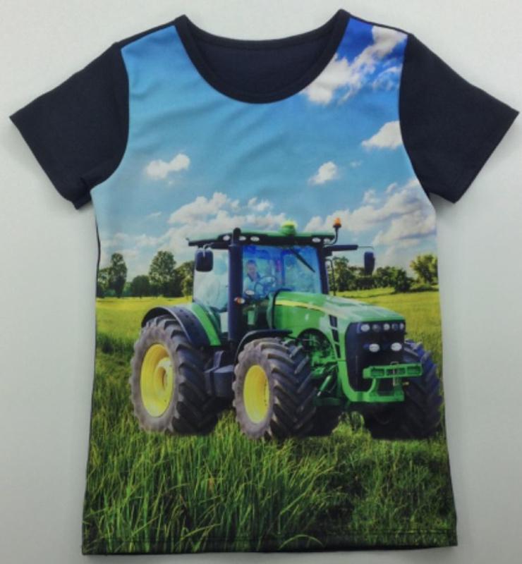 Trekker shirt zwart (groene trekker) mt 8 tm 16