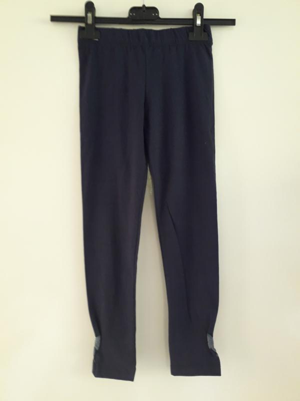 Legging met strik opdruk blauw (mt 92 tm 122/128)