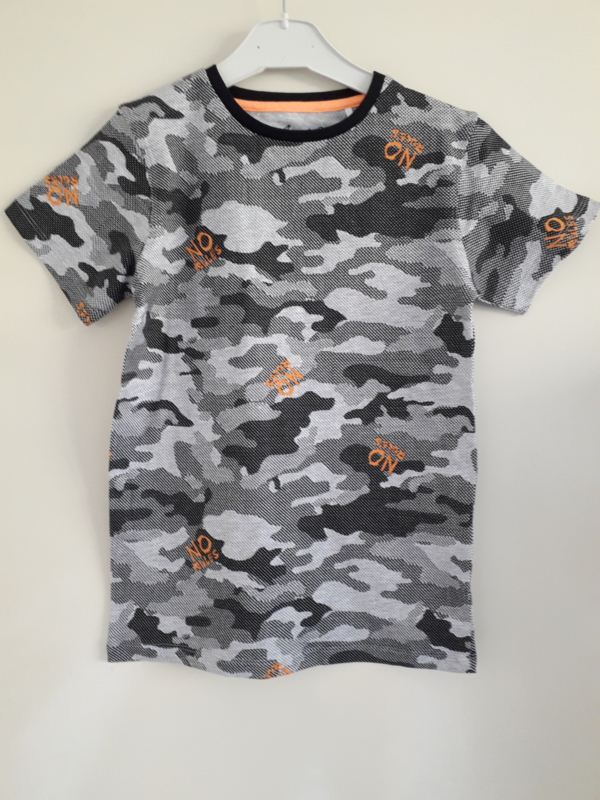 Shirt NO RULES neon-oranje mt 128 tm 164