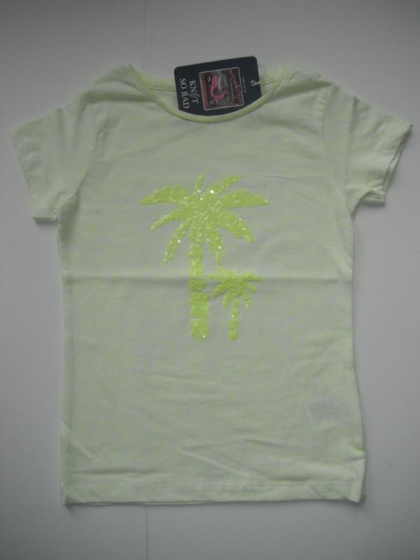 T-shirt PALMBOOM geel (mt 92 tm 122/128)