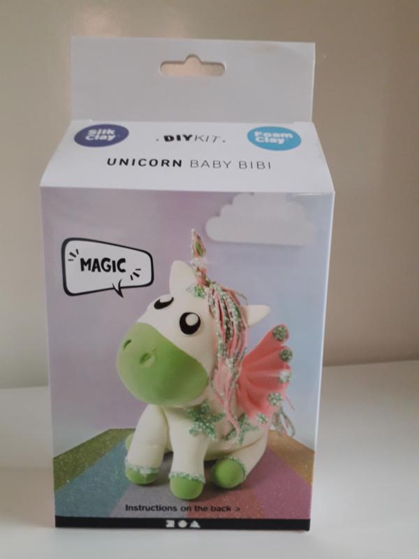 Unicorn groen - silk/foam clay DIY set