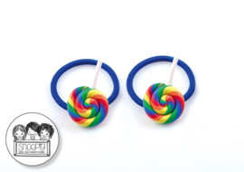 Elastiekjes Swirl Lolly blauw - Snoepig